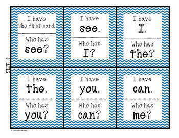 Sight Words I Have Who Has SIPPS Game BUNDLE