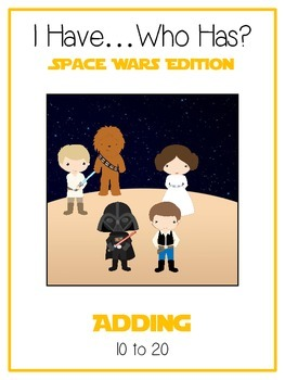 I Have Who Has - SPACE WARS - Adding 10 to 20 - Math Folder Game