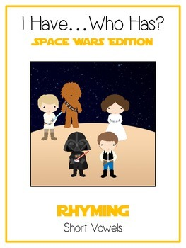 I Have Who Has SPACE WARS Folder Game - Rhyming Words - Short Vowels