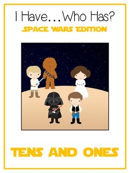 I Have Who Has SPACE WARS Math Folder Game Expanded Form TENS & ONES Place Value