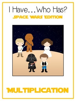 I Have Who Has - SPACE WARS - Multiplication - Math Folder Game