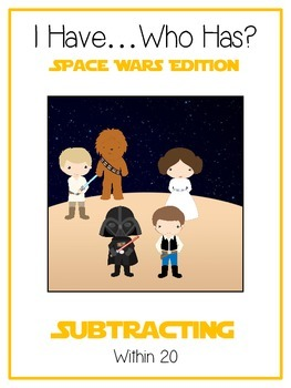 I Have Who Has - SPACE WARS - Subtracting within 20 - Math Folder Game