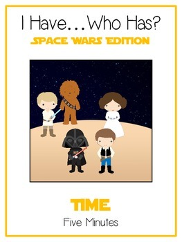 I Have Who Has - SPACE WARS - Telling Time - 5 Minutes - Math Folder Game