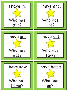 I Have, Who Has? {Scott Foresman~Reading Street Grade 1 High Frequency Words}