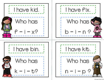 I Have, Who Has? - Segmenting and Blending Short I Words