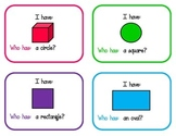 I Have, Who Has... Shape Activity (2.G.1)