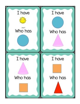 I Have Who Has Shapes