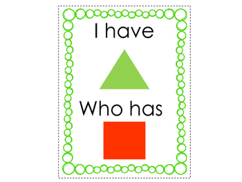 I Have, Who Has: Shapes