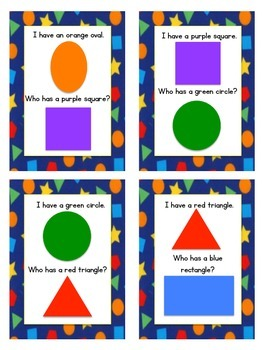 I Have, Who Has? Shapes & Colors