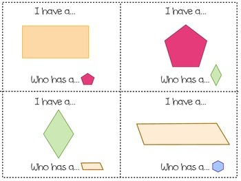 I Have, Who Has: Shapes Edition