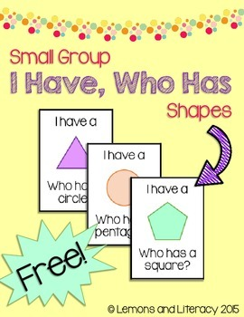 """""""I Have, Who Has"""" Shapes Game for Small Groups"""