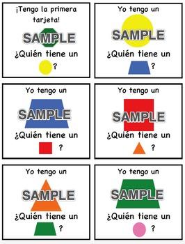 I Have, Who Has - Shapes SPANISH