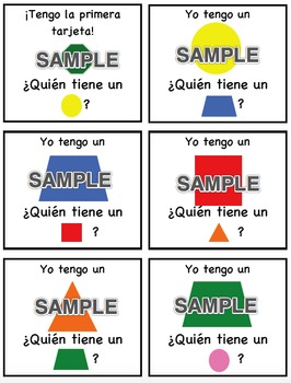 I Have, Who Has - Shapes SPANISH