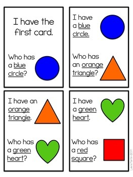 I Have, Who Has-Shapes and Colors