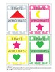 I Have, Who Has Shapes and Colors Card Game - Basic Shapes Activities