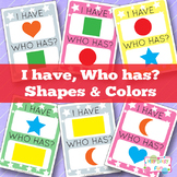 I Have, Who Has Shapes and Colors Card Game - Basic Shapes