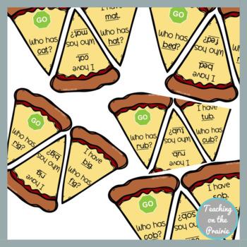 I Have Who Has CVC Word Bundle- Pizza Theme