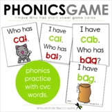 Short Vowel, CVC - Game Cards - I Have. . . Who Has