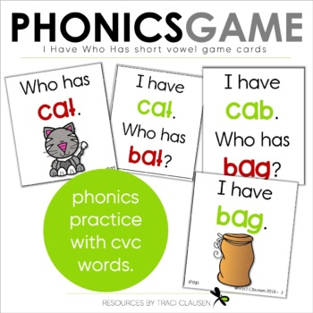 Short Vowel Games - I Have. . . Who Has