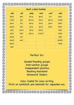 I Have, Who Has - Short Vowel Word Family BUNDLE