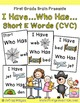 I Have Who Has Short Vowel Words Bundle (A, E, I, O, U)