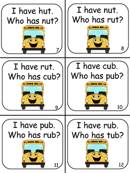 I Have Who Has Short 'u' Bus