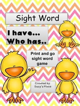 I Have Who Has Sight Word Game