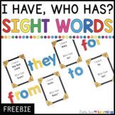 FREE Sight Word Game | I Have, Who Has? Most Common Words 1-100