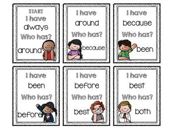 """I Have, Who Has?"" Sight Word Game (Dolch 2nd Grade)"