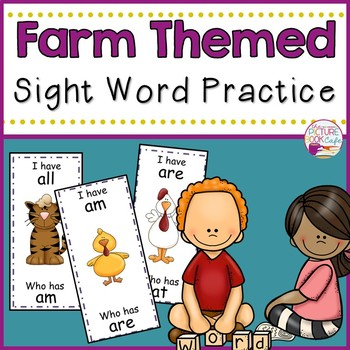 I Have Who Has Sight Word Game-Farm Themed