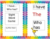 I Have Who Has Sight Word Game (K-1)