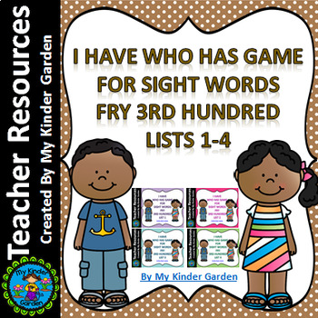 I Have Who Has Sight Word Games Fry Third 100 Words List 1