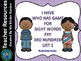 I Have Who Has Sight Word Games Fry Third 100 Words List 1-4 Bundle