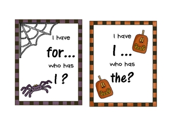 I Have, Who Has?   Sight Word Review  Halloween