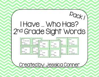 I Have... Who Has - Sight Word Task Cards