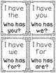 I Have, Who Has - Sight Words