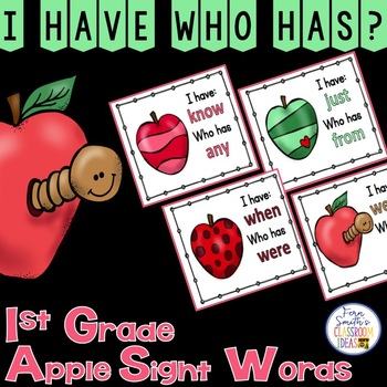 I Have, Who Has? Sight Words 1st Grade - Apples
