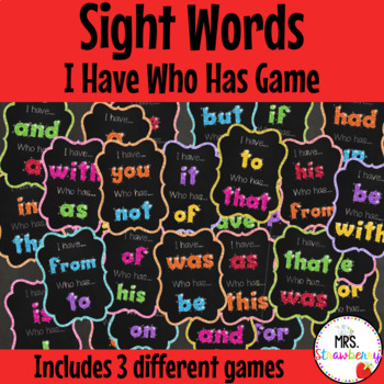 I Have Who Has – Sight Words Game