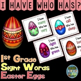 I Have Who Has Game Sight Words 2nd Grade - Easter Eggs