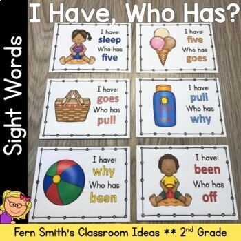 I Have, Who Has? Sight Words 2nd Grade - Summer Fun