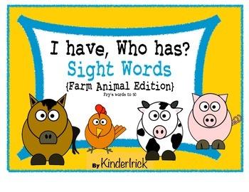 I Have... Who Has? Sight Words {Farm Animals Edition}
