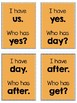 I Have, Who Has Sight Words Set 4