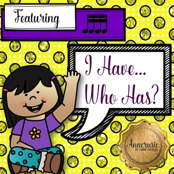 I Have Who Has - Sixteenth Notes
