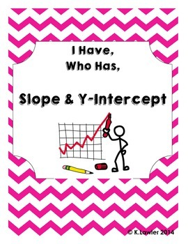 I Have, Who Has ... Slope & Y-Intercept