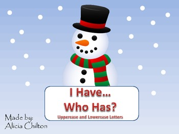 I Have Who Has Snowman ABC Game