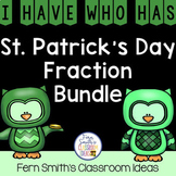I Have Who Has Games St Patrick's Day Fractions Bundle