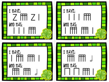 I Have/Who Has? - St. Patrick's Day - Sixteenth Notes (tiri-tiri)