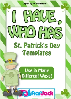 """""""I Have, Who Has"""" St. Patrick's Day Game Templates - FREE"""