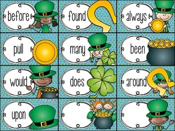 I Have, Who Has St. Patty's Day {Sight Words - 2nd}