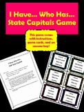 I Have... Who Has... State Capitals Game
